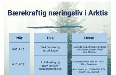 UN Global Compact Arctic Platform – ARCT workshop